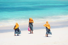 Kids going to school in Zanzibar Stock Image