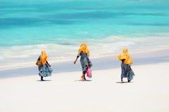 Kids going to school in Zanzibar Stock Photos