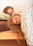 Kids going to sleep Stock Image