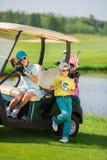 Kids on golf Stock Image