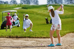 Kids golf competition Stock Image