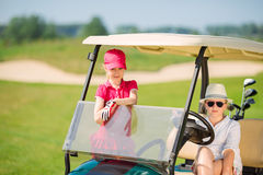 Kids on golf Stock Images