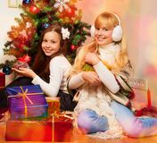 Kids got their presents Royalty Free Stock Photo