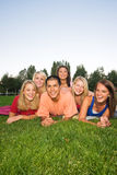 Kids on the Grass Stock Photography