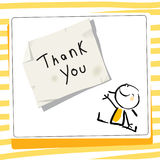 Kids gratefulness thank you card Royalty Free Stock Image