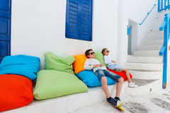 Kids in Greece Royalty Free Stock Photos