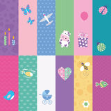 Kids greeting cards collection Stock Photography