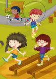 Kids on a Ground. Illustration of kids playing on a ground Royalty Free Stock Photography