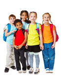 Kids group. Group of school aged and preschool kids Royalty Free Stock Photo