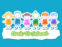 Kids group, back to school Stock Photography