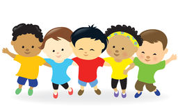 Kids group together Stock Photography