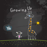 Kids growing up Royalty Free Stock Photos