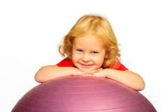 Kids` gym and fitness. Royalty Free Stock Images