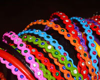 Kids hairbands background photograph. Beautiful kids hairbands colourful background photograph stock photos
