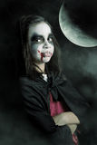 Kids in Halloween costumes Stock Image