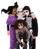 Kids in Halloween costumes Stock Photo