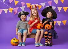 Kids at halloween Royalty Free Stock Photography