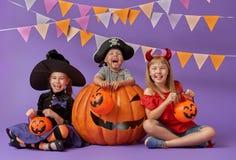 Kids at halloween Royalty Free Stock Photo