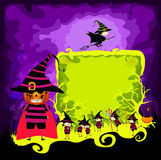 Kids halloween magical frame Royalty Free Stock Images