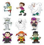 Kids haloween. Illustrator design .eps 10 Stock Images