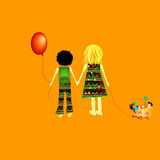 Kids hand in hand Royalty Free Stock Photo