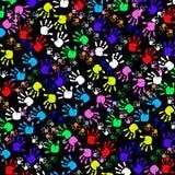 Kids Handprints Stock Images