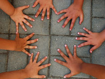 Kids hands royalty free stock images