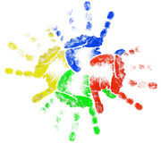 Kids Hands Sun Royalty Free Stock Photography
