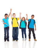 Kids hands up Stock Image