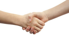Kids handshake Royalty Free Stock Image