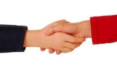 Kids handshake Royalty Free Stock Images
