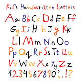 Kid's handwritten letters. Royalty Free Stock Photography