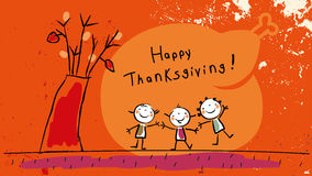 Kids happy thanksgiving Royalty Free Stock Image