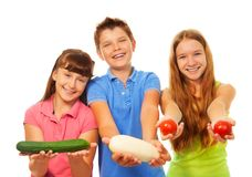 Kids and harvest Stock Images