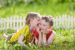 Kids have fun outdoors Royalty Free Stock Image