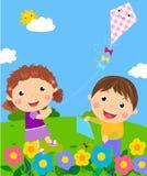 Kids having fun. Illustration of kids having fun Stock Image