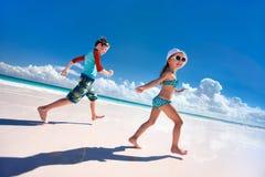 Kids having fun at beach Stock Photo