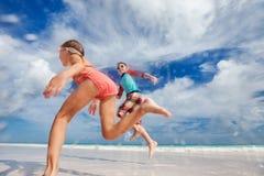 Kids having fun at beach Royalty Free Stock Image