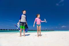 Kids having fun at beach Royalty Free Stock Photo