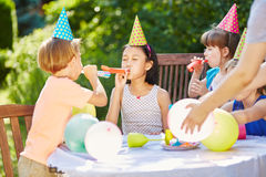 Kids having fun and celebrating Royalty Free Stock Images