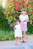 Kids Having Fun Outdoor. royalty free stock photography
