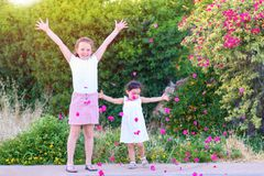 Kids Having Fun Outdoor. royalty free stock photography