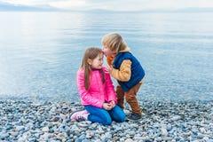 Kids having fun outdoors Royalty Free Stock Image