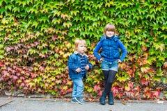 Kids having fun outdoors Stock Photos