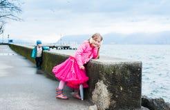Kids having fun outdoors Stock Photo
