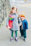 Kids having fun outdoors Royalty Free Stock Images
