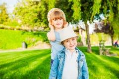 Kids having fun outdoors Royalty Free Stock Photo