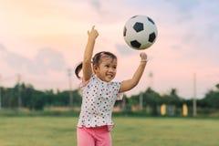 Kids playing soccer football. stock photo
