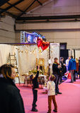 Kids having fun  Salon du Marriage wedding fair France Stock Photo