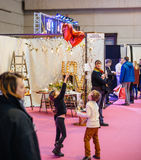 Kids having fun  Salon du Marriage wedding fair France Stock Photography